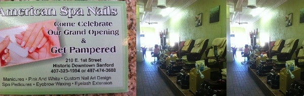 American Spa Nails 210 East 1st Sanford Florida