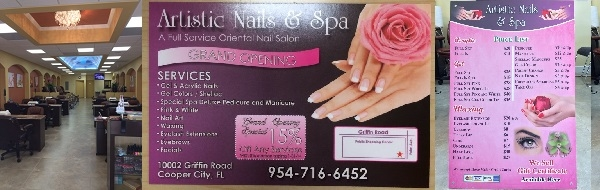 Artistic Nails and Spa 10002 Griffin Rd Cooper City Florida