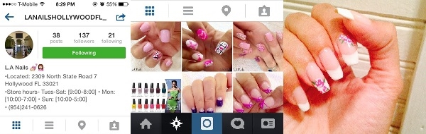L.A Nails 2309 N State Rd 7 Hollywood Florida